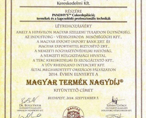 Magyar Termék Nagydíj 2014